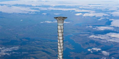 Inflatable space elevator 20 times taller than Burj