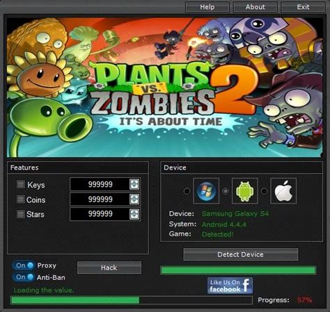 Plants vs Zombies 2 Hack For Android/iOs [No Password] [No