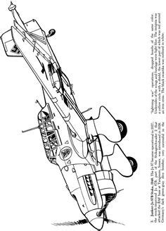 Coloring P38   Airplane coloring pages, Airplane drawing